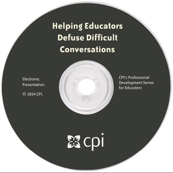 Helping Educators Defuse Difficult Conversations Electronic Presentation - TESTING