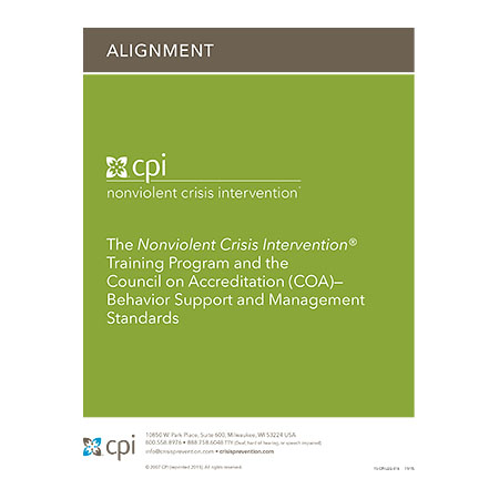The Nonviolent Crisis Intervention® Training Program and the Council on Accreditation (COA)— Behavior Support and Management Standards