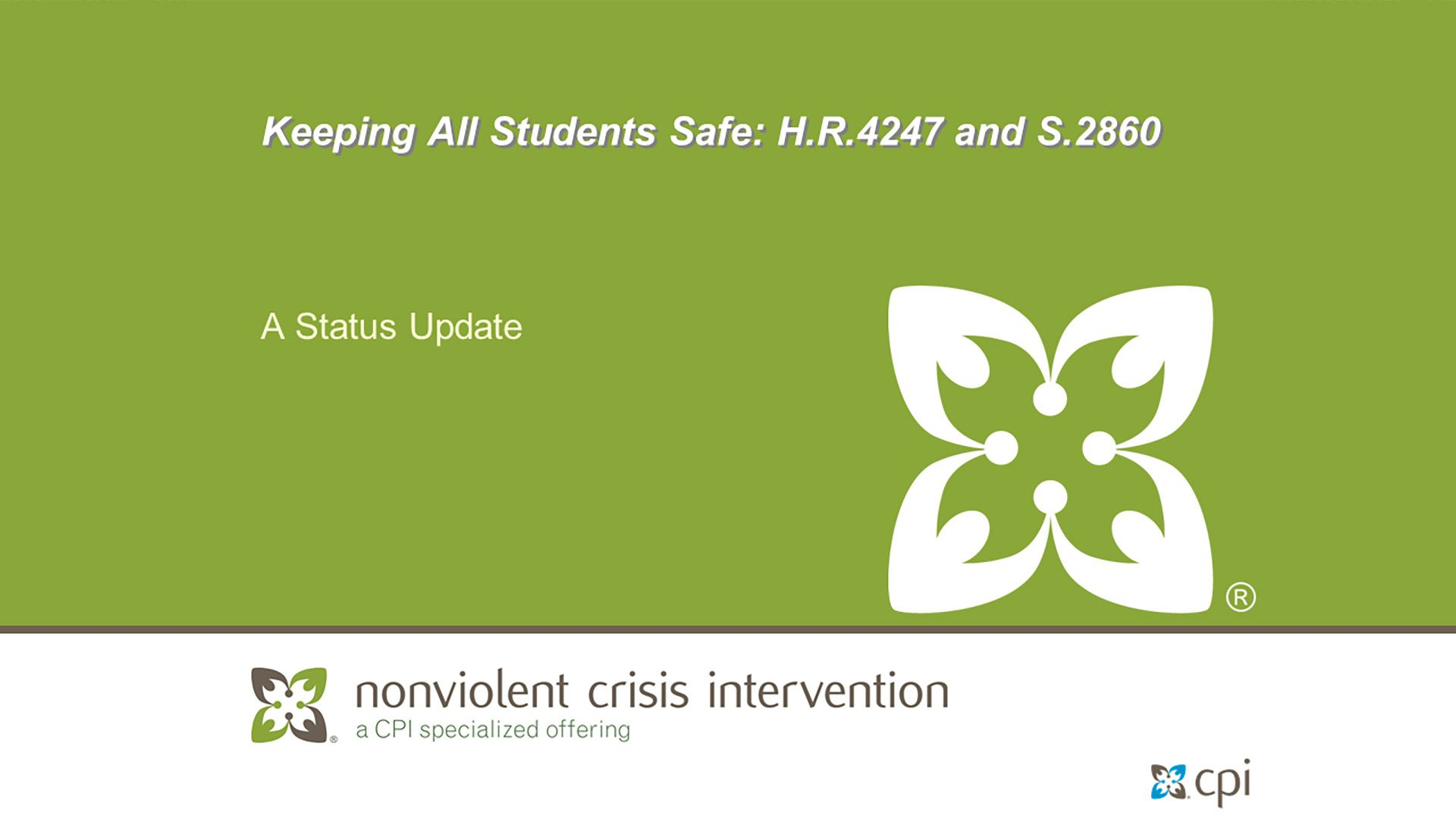 Keeping All Students Safe: H.R.4247 and S.2860