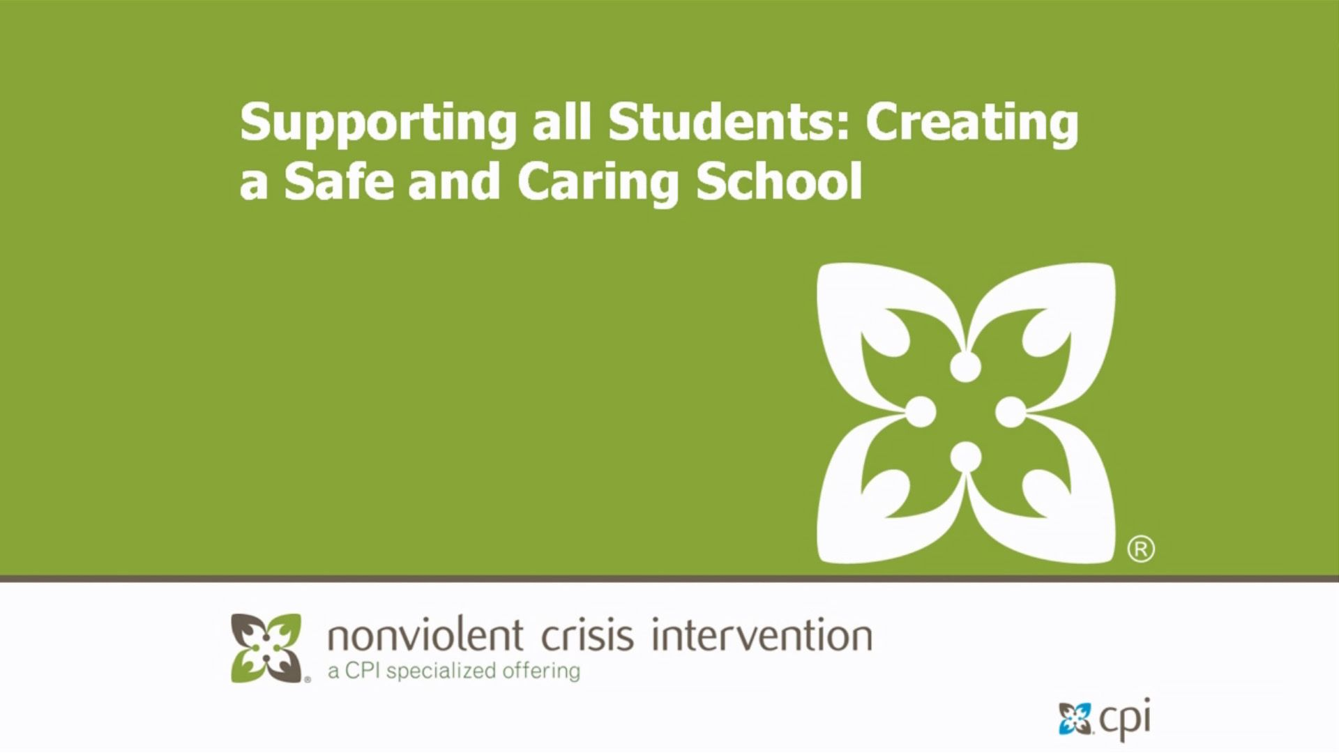 Supporting All Students: Creating a Safe and Caring School