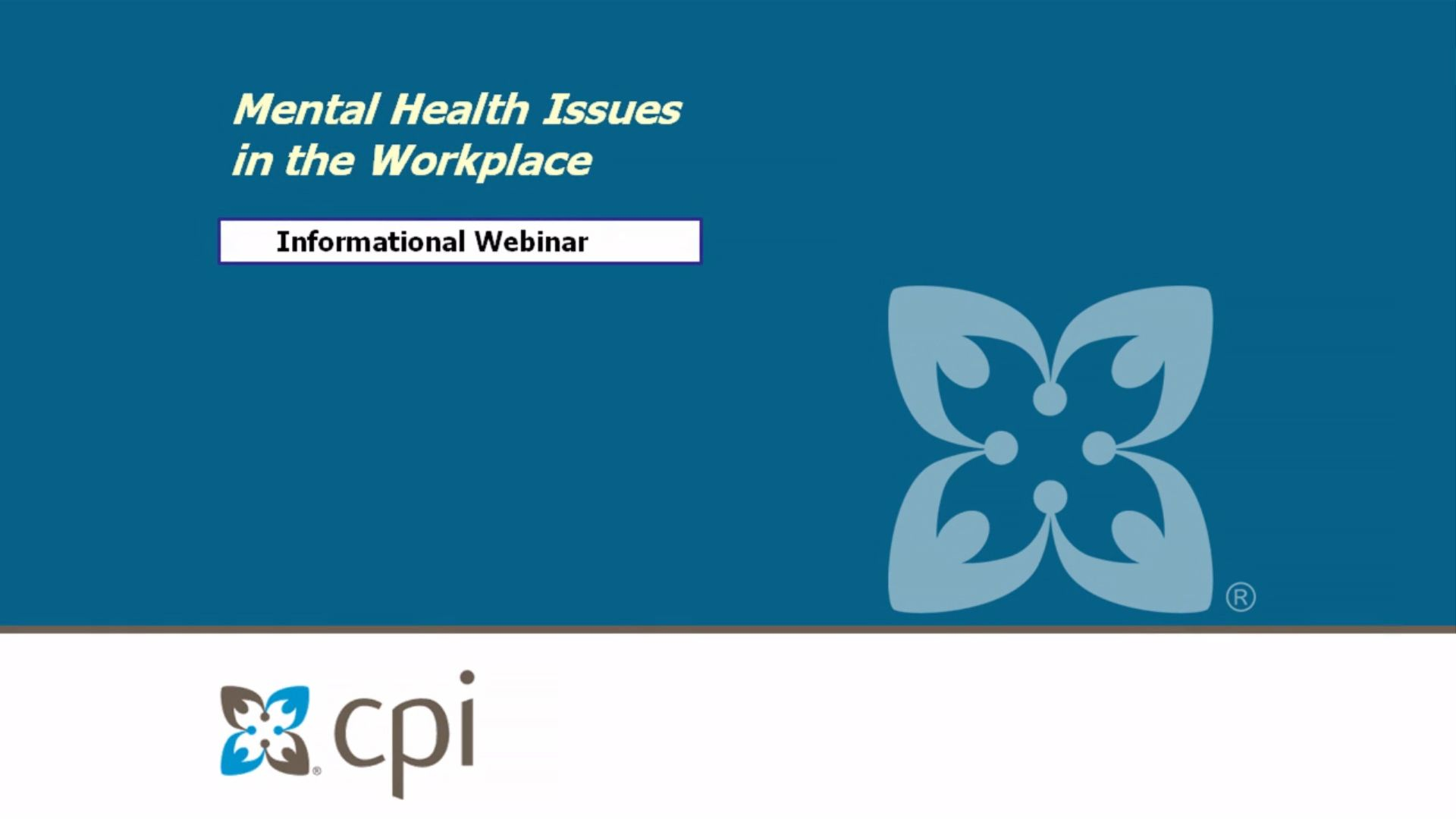 Mental Health Issues in the Workplace