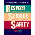 Respect, Service, and Safety Poster image