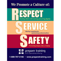 Respect, Service, and Safety Magnets image