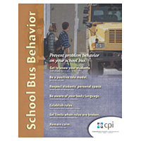 Preventing Problem Behavior on Your School Bus Poster image