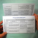 Trifold Scoring Card image
