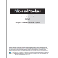 workplace violence prevention and response policies and procedures template