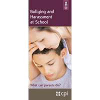 Bullying and Harassment at School: What Can Parents Do? Pamphlet image
