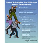 7 Principles for Effective Verbal Intervention Poster image