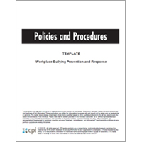 Workplace Bullying Prevention and Response Policies and Procedures Template image